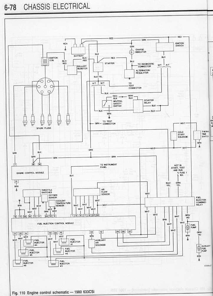 80 633CSi    Wiring       Diagram    1    SIDE DRAFT SIX